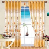 plastic rod bracket ripple fold coloured voile curtain