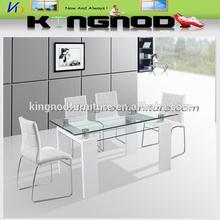 Mesas de comedor modernos comedor de cristal