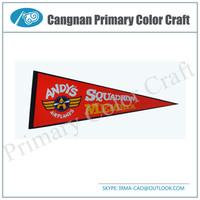 High Quality custom felt triangle pennant flags felt pennant string flags Triangle sport flag