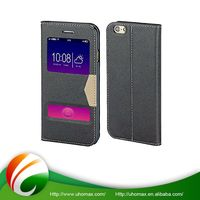 Nice Quality Custom Flip Down Leather Case For Iphone 6
