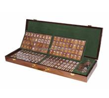 Luxury Custom Mahjong Tiles Wooden TaiWan Mah Jong Set