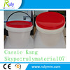 Round plastic bucket food grade for packing and industrial thing
