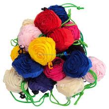 Hot seller colorful rose flower shape shopping bag