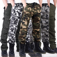 Field trousers Outdoor camouflage men pants High-grade cotton washed overalls sportswear
