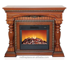 Cheap fireplace mantel with heater