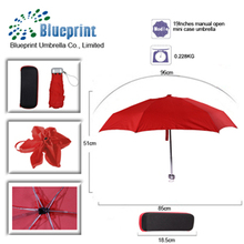caso de eva de luz super 5 paraguas plegable mini