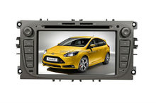 Car Factory wholesale cheap 7 inch 2 Din Car dvd gps for Ford focus DVD GPS Navigation with Bluetooth AM/FM Radio SWC 1080P
