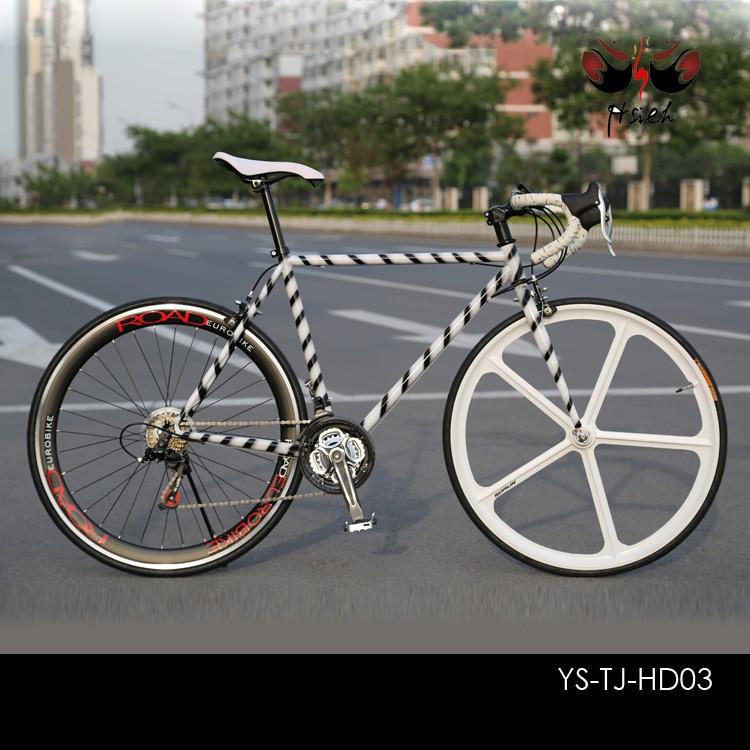 48ซม. 52cmเหล็กhi- tenv- เบรกง่ายต่อการบำรุงรักษาที่มีคุณภาพดีจักรยานจักรยานไฮบริด