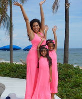 Mommy and me maxi dress cheap matching dress design kids wholesale casual maxi dress