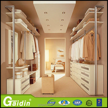 Clothes rails heavy duty and solid wood wardrobe walk in aluminum pole system wardrobe