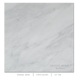 """12""""x12"""" first class statuary white polished marble subway tile for floor use"""