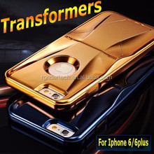 4 colors gold plate cool incrediable unique design aluminum metal case for iphone 6 6 plus, transformers metal case for iphone 6
