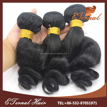 Specialized in Virgin Human Bundle Hair beautiful collection loose wave brazilian indian remi spiral curl hair weave