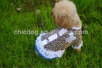 Leopard grain sexy dog clothes /Dog dress wholesale with low price