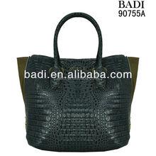 Designer's name brand tote bags wholesale women crocodile leather tote handbags branded designer bags wholesale