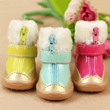 Design winter warm dog waterproof boots
