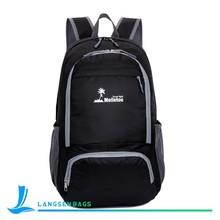 Outdoor waterproof foldable backpack fold up nylon bag