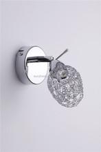 beautiful metal halogen spotlight with chrome tulip shape netting shade ceiling spotlight