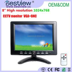 bulk buying 8 inch tft lcd monitor with VGA BNC