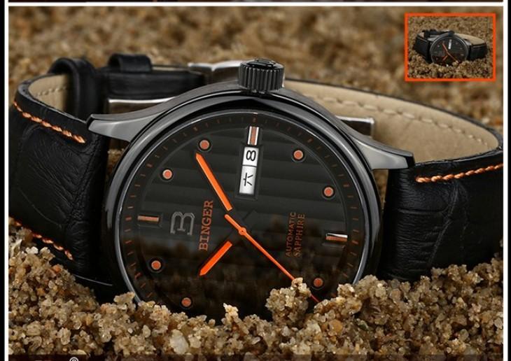Мода Водонепроницаемый Кварцевые Часы для Мужчин мужской Бренд Бингер Часы Из Нержавеющей Стали Высокого Качества Новые Часы Наручные Часы Световой