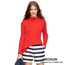 Rosun femmes vêtements acrylique à col femmes pull