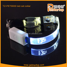 2015 new optical fiber led cat collars TZ-PET9000 pet toy