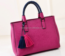 wholesale ladies leather handbag online shopping genuine bag handbag with tassels