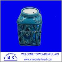 ceramic garden lantern candle holder with solar light