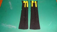 black pvc velvet pen bag/velvet pvc bag for pen