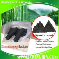 Cheap prices hexagonal square bulk bamboo charcoal briquettes