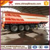 liquid asphalt tank trailer with heat preservation system