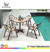 Classic outdoor/garden cafe table set with water resistant chairs