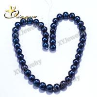 AAAAA Quality Fresh Water Pearl Beas String Round 9mm Black Pearl String