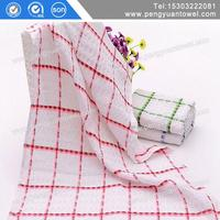 cotton thin tea towel fringed