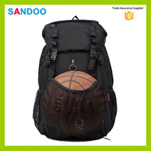 China manufacturer custom black basketball bag, sport backpack for 2015