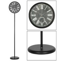 Wholesale decoration China metal floor standing clock / stand clock
