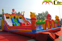 CILE Large Children's Happy Inflatable Park Center for Soft Jumping Game