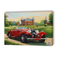 Car decorative painting and classical oil painting frame