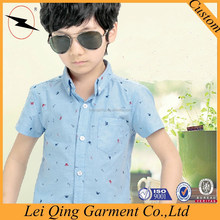 2015 latest style top quality print boy shirt import clothes vietnam