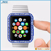 2015 Hot Selling Diamond Embedded Solid Color Soft TPU Case for Apple Watch Case 38mm