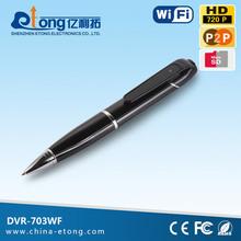 1.0MP 720P HD CMOS MIC built-in 30fps motion detection mini pen camera(DVR-703WF)