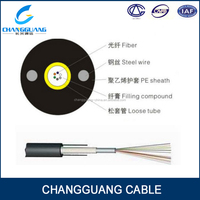 Unitube non-armored good mechanical temperature endoscopic fiber optic cable