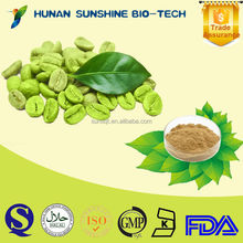 health food Liver protecting Green Coffee Bean Extract Chlorogenic Acid 50%