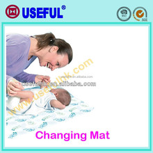 In box set cotton polyester OEM diaper changing mats Diposable Diaper Changing Pad