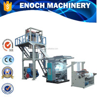 EN-FL2600 High Speed PE film blowing machine in line with Two color flexography printing unit.