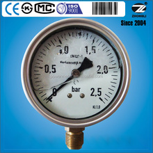 ISO9001,CE approved 40mm to 200mm high quality bourdon tube pressure gauge of air pressure gauges by China manufacturer