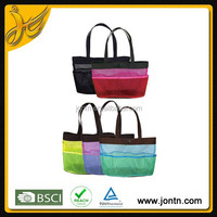 Promotional Mesh Utility Tote beach bag with Pockets
