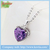 Cubic zirconia heart necklace semi precious stone necklace women accessories china