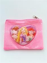 Custom beauty girls pvc coin purse , glitter mini pvc coin pouch