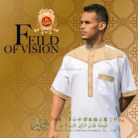 2015 High Quality man Arabian robes Arab style Islamic Clothing Men's Arab Thobe